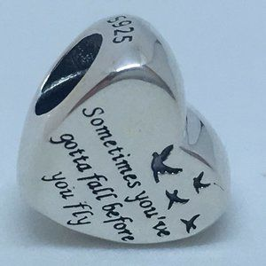 New Pandora Charm Heart of Freedom Sterling Silver